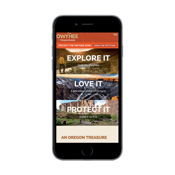 Owyhee website on iphone