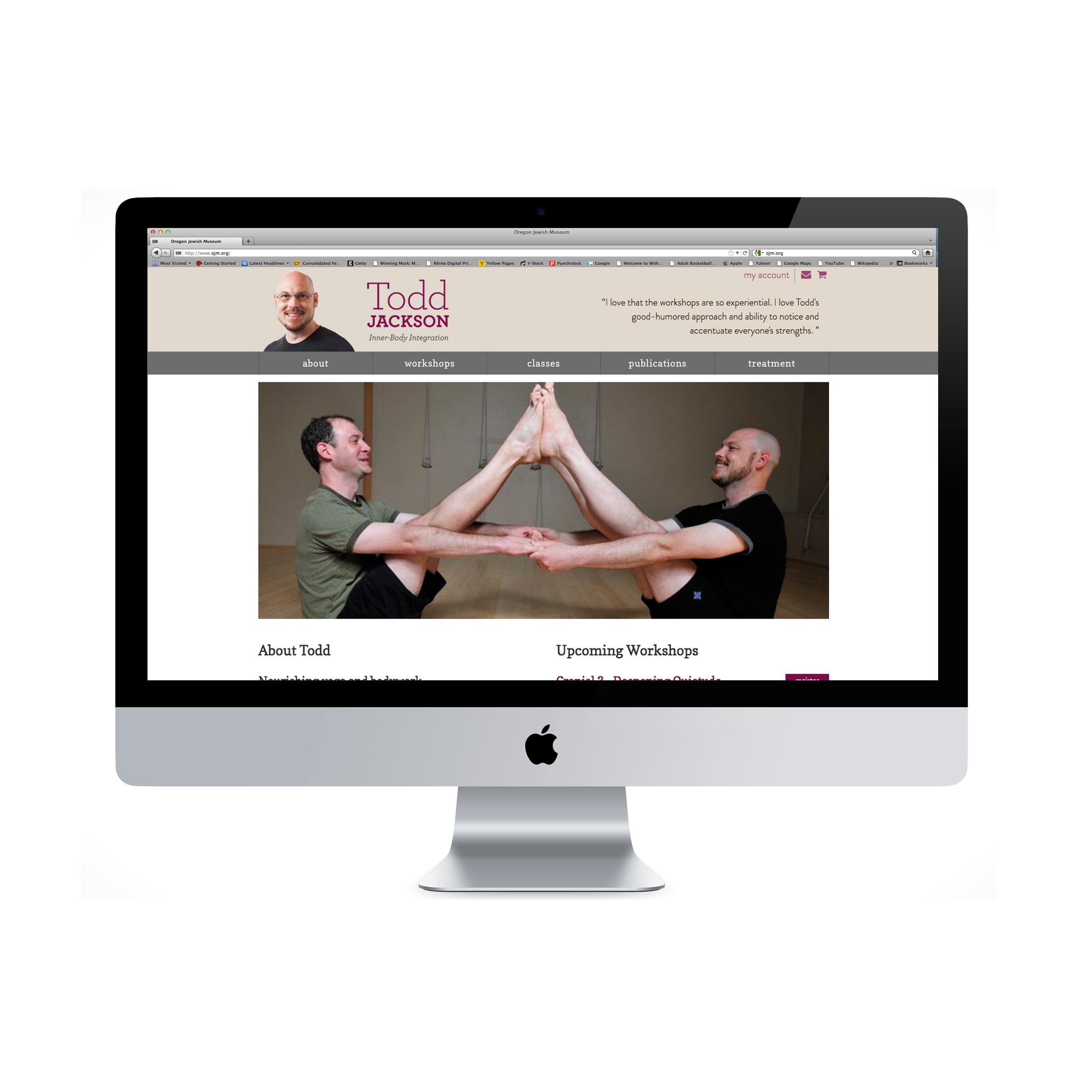 Todd Jackson website on imac
