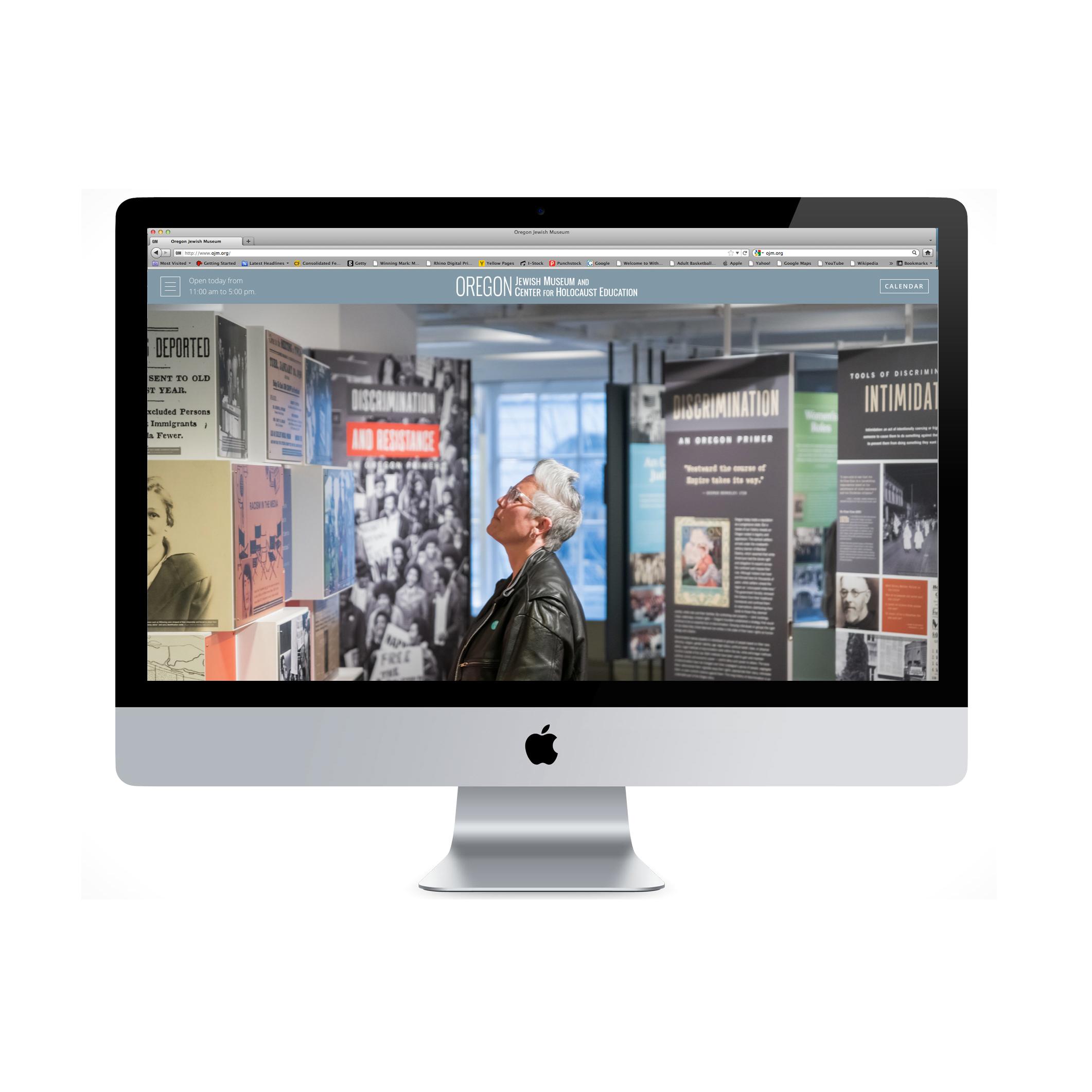 OJMCHE website on imac